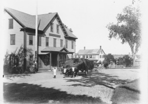 The Square of Center Harbor, NH (circa 1900's)  Click to enlarge.
