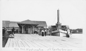 Mt. Washington docked at Center Harbor, circa 1900's